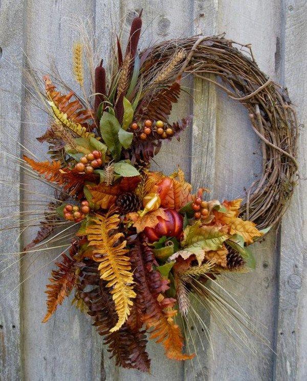 Fall Door Arrangements: + De 101 Fotos Para Una Decoración De Otoño