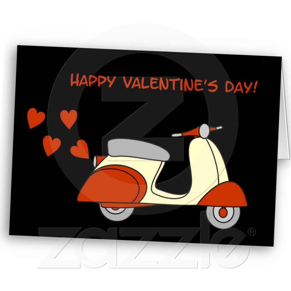 Scooter Valentine Card from Zazzle.com
