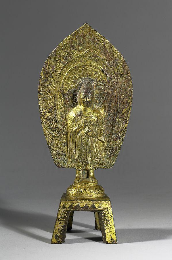 北魏太和九年 銅鎏金無量壽佛像
