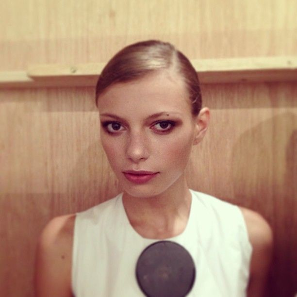 makeup #MariaSenko backstage at @Dee Ann Sears London #lfw #stunner @imgmodels @gh0stbuster