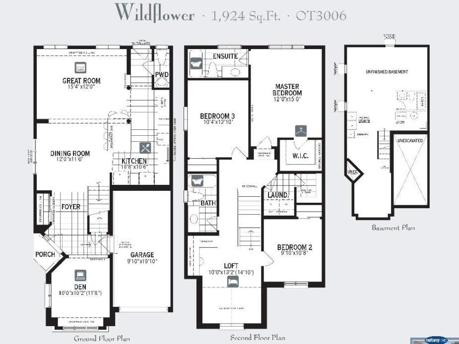 Floor Plan Mattamy Homes Wildflower Model Bedroom Pics Photos Bedroom Bathroom Floorplan Square Feet Livin Floor Plans Home Design Floor Plans Bedroom Pictures