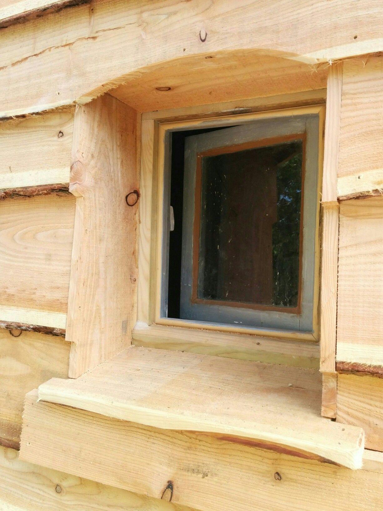 Wany edge ceder cladding window reveal detail | carpentry | Pinterest