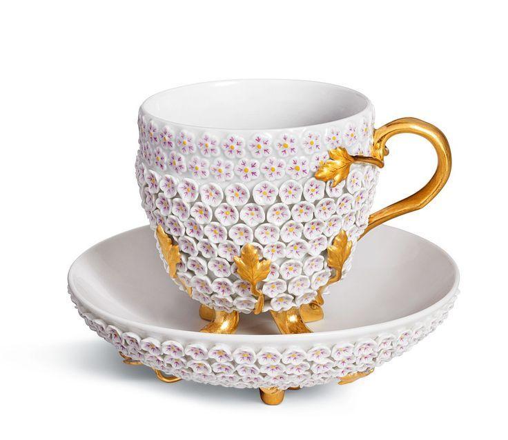 Meissen Hc, Rosenthal Dresden Porcelain, Cups Hrnečky Tea Cup, Blossoms Meissen