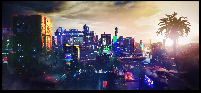 Night City (Cyberpunk 2077) [Concept art] | Cyberpunk 2077, Night ...