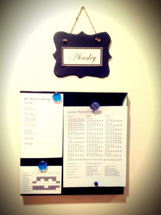 So happy with our new weekly kid organizing system!!