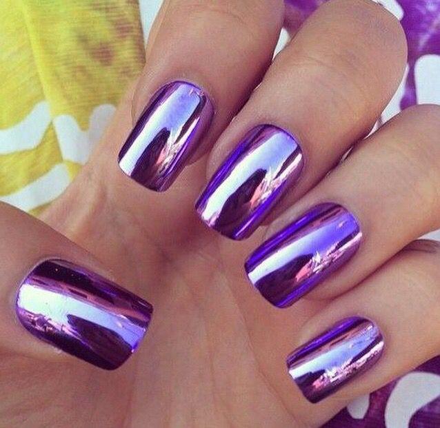 Morado metálico... | ♤nails♤ | Pinterest | Diseños de uñas ...