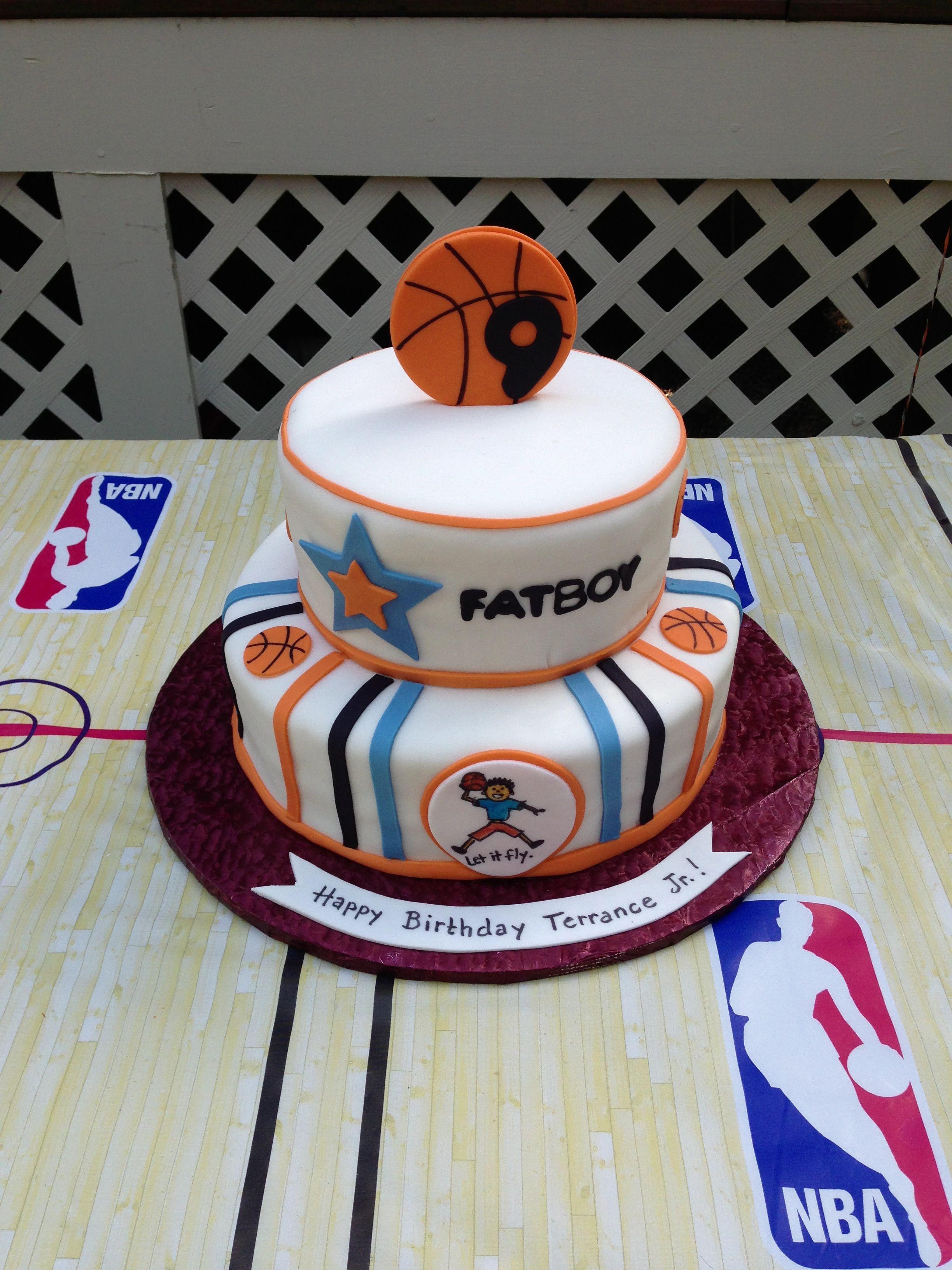 Basketball Cake For My 9 Year Old Basketball Cake Boys Bday