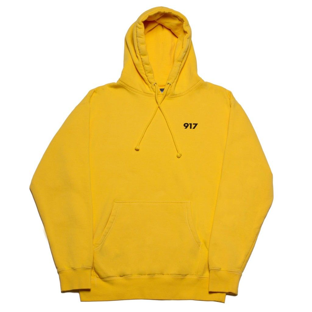 Nine One Seven Area Code Pullover Hoodie (Yellow) | FIT ESSENTIALS ...