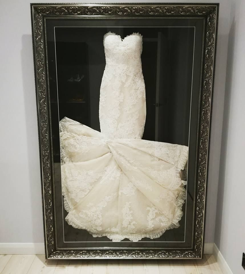 A gorgeous twist for this stunning lace Wedding Dress we framed ...