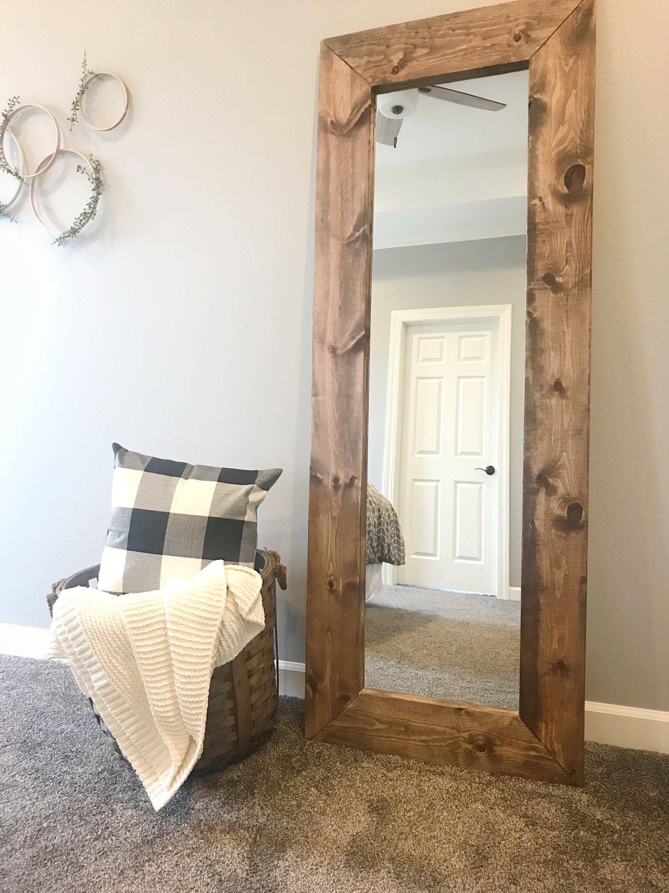 How to Build a DIY Wood Mirror Frame | I\'m home | DIY, Wood framed ...