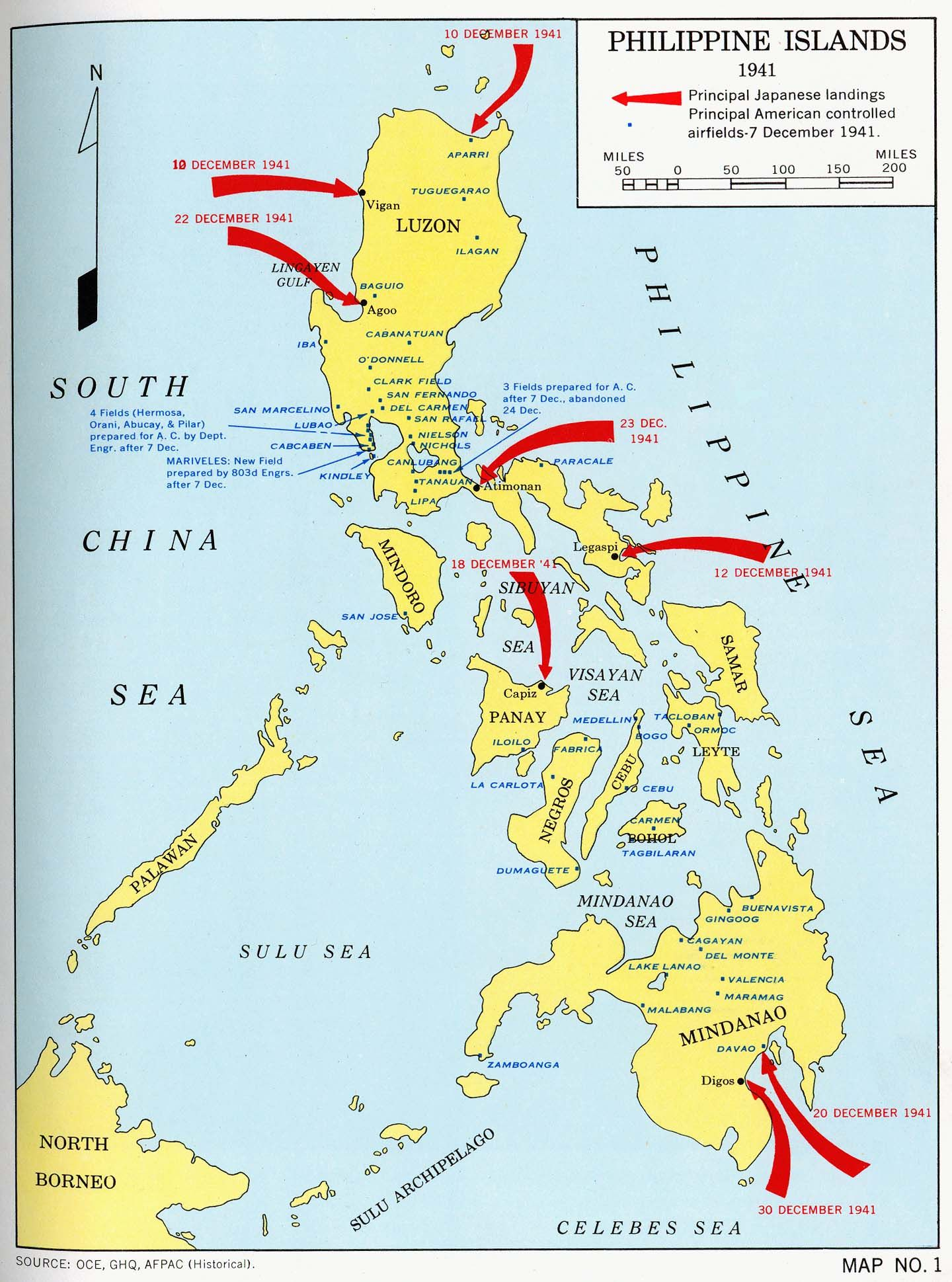 Philippine Islands - 1941 | Wwii maps, Island map, Island