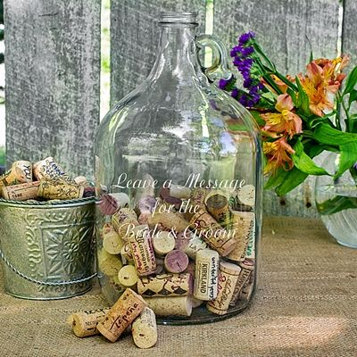 Leave A Message For The Bride And Groom Wedding Wishes Bottle Personalized Gifts And Party Favors Wedding Bottles Wedding Guest Book Alternatives Wedding Wishes