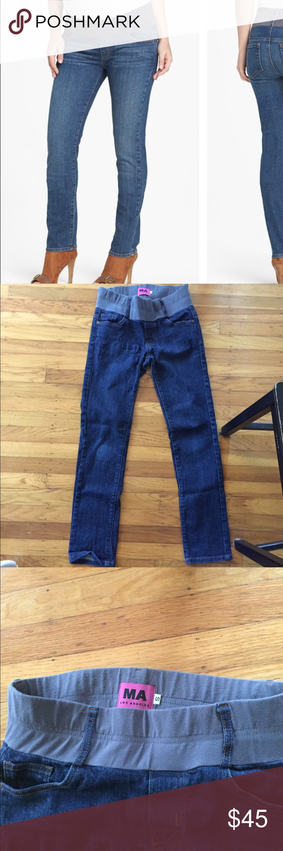 Matenal America maternity jeans Wide elastic band. Very comfortable for early pregnancy and post-par...