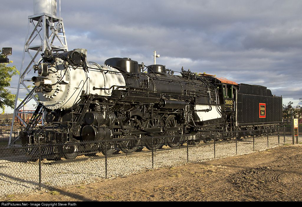 Cbq 3003 Chicago Burlington Quincy Railroad Steam 4 6 4 At