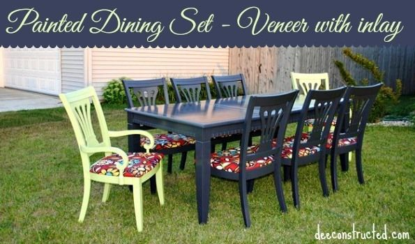 Updated dining room table set | deeconstructed.com #diy