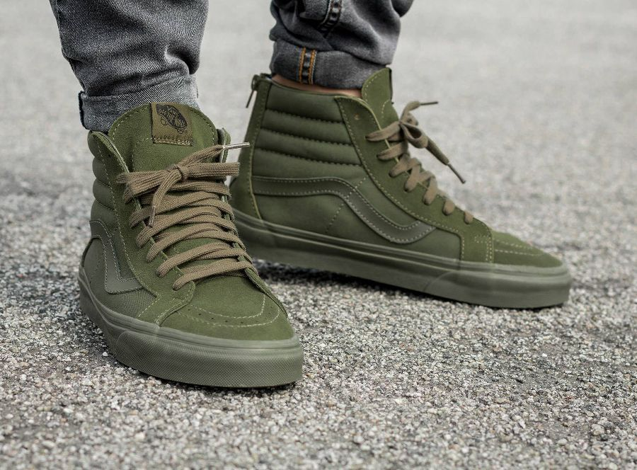 vans homme chaussure kaki