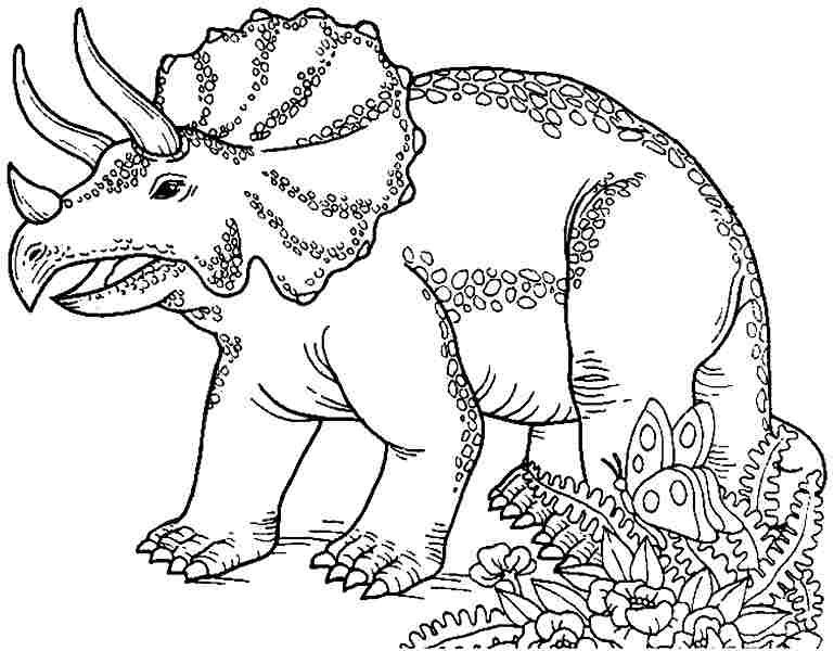 Dinosaur Coloring Pages T Rex Printable With Regard   Dino ...