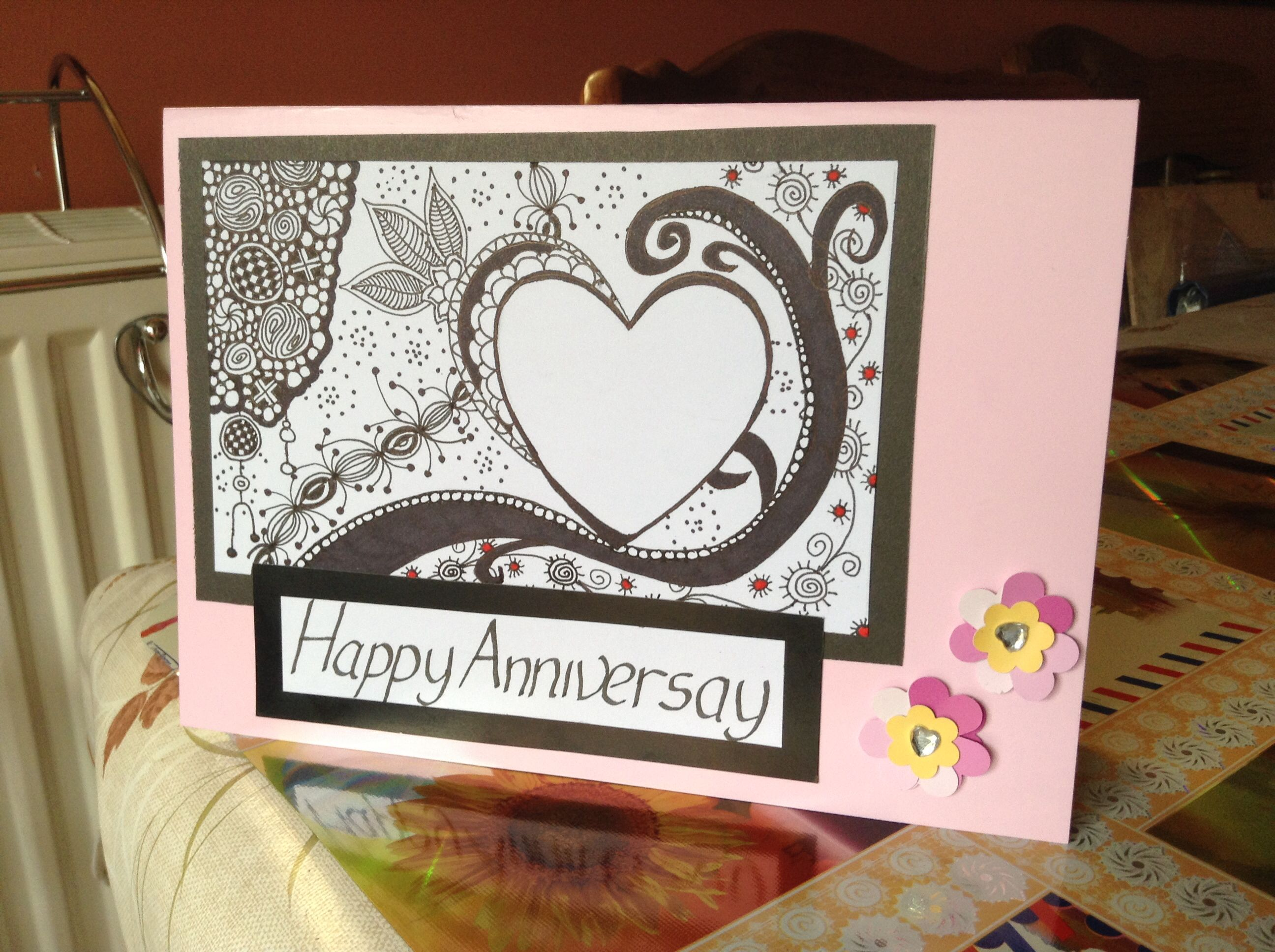 Zentangle Anniversary Card Cards Zentangles Stampin Up Ideas