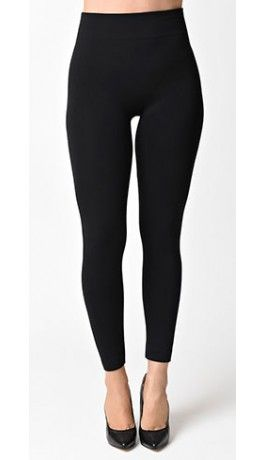 68a29cac1fc09b 1950s Pin Up Style Black High Waist Cigarette Stretch Leggings | Why ...