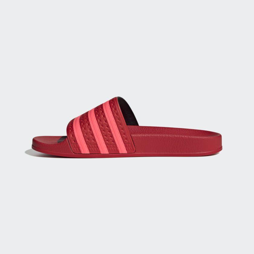 adidas Adilette Slides - Red | adidas