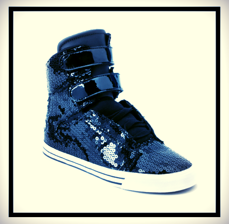 c567c2e3e4c6 Dress up your favorite pair of jeans with  Sequins Supra High Tops ...