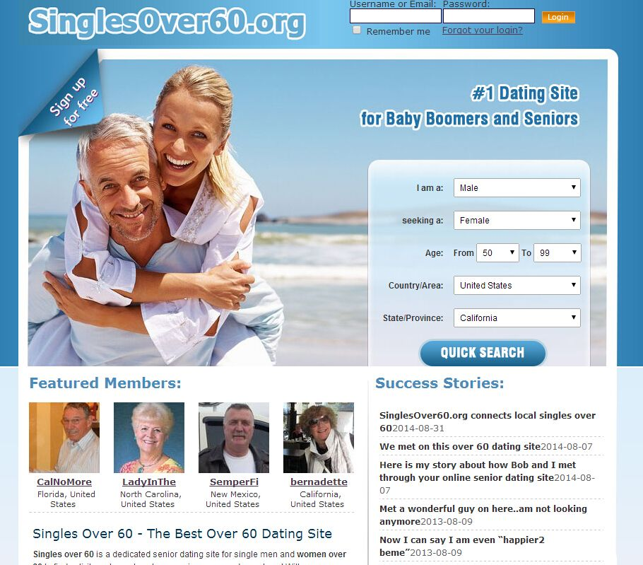 Online hookup sites for seniors over 60