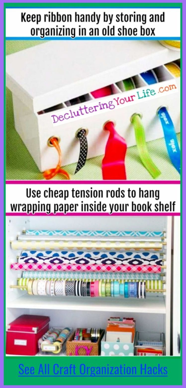 Great Home Office Ideas To Set The Creative Juices Flowing Home Office Ideas Organize Craft Supplies Room Organization Diy Wrapping Paper Storage