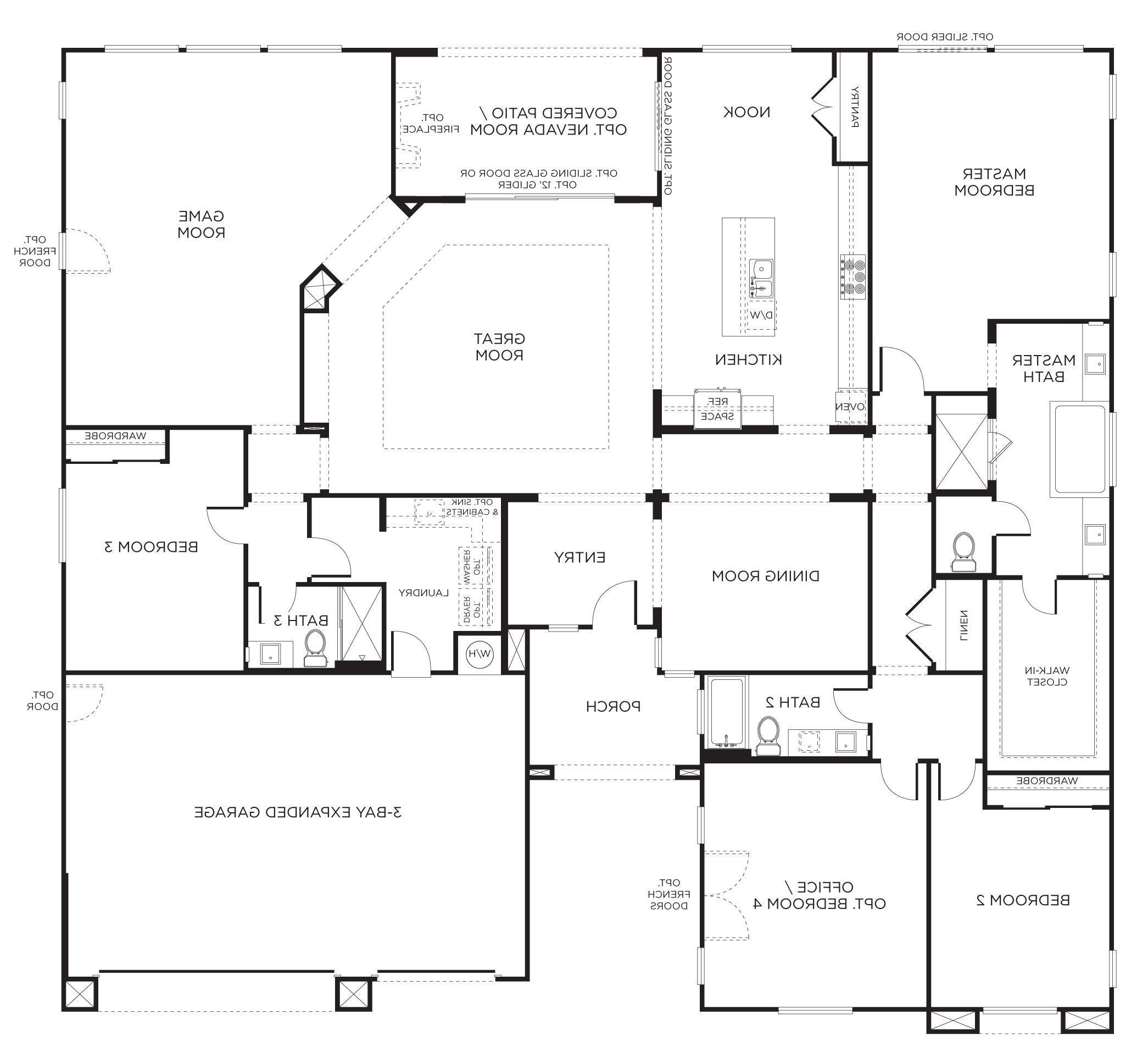 Single Story 4 Bedroom House Plans Home Design Ideas