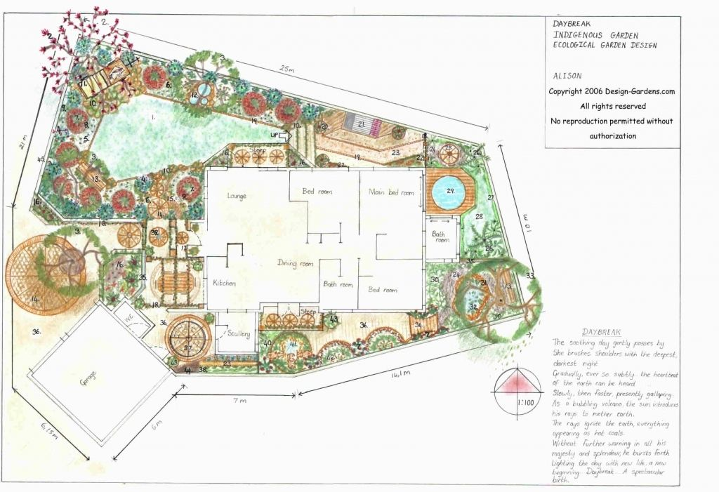 Garden Design Drawing markcastroco