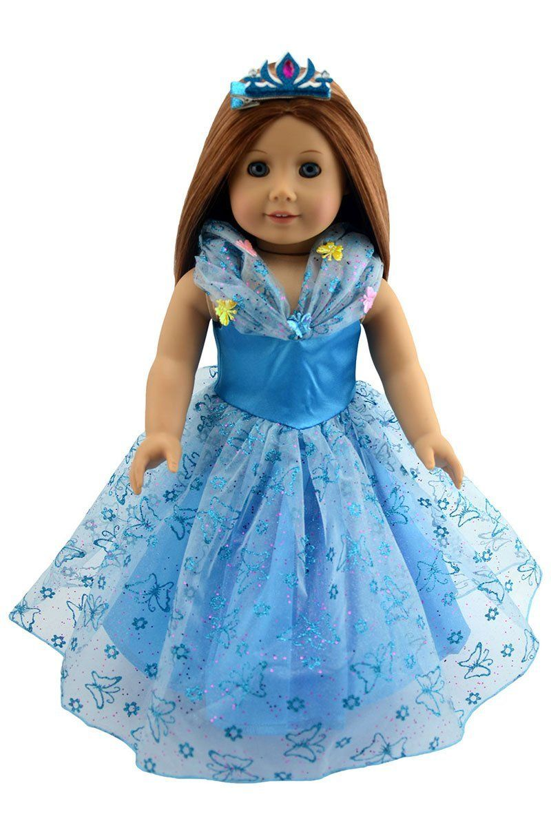 Amazon.com: Dreamtoyhouse American Girl Doll Clothes Princess ...