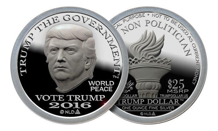 1oz 2016 Trump 999 Fine Silver Bullion Round Norfed 25 Trump The Government Silver Bullion Silver Dollar Coin Coins