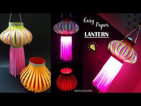 Youtube Diy Diwali Decorations Paper Lanterns Diwali Lantern