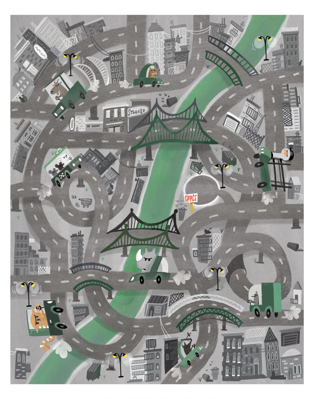 Jana Curll Illustrators For Hire Illustrators Illustrated Map Illustration