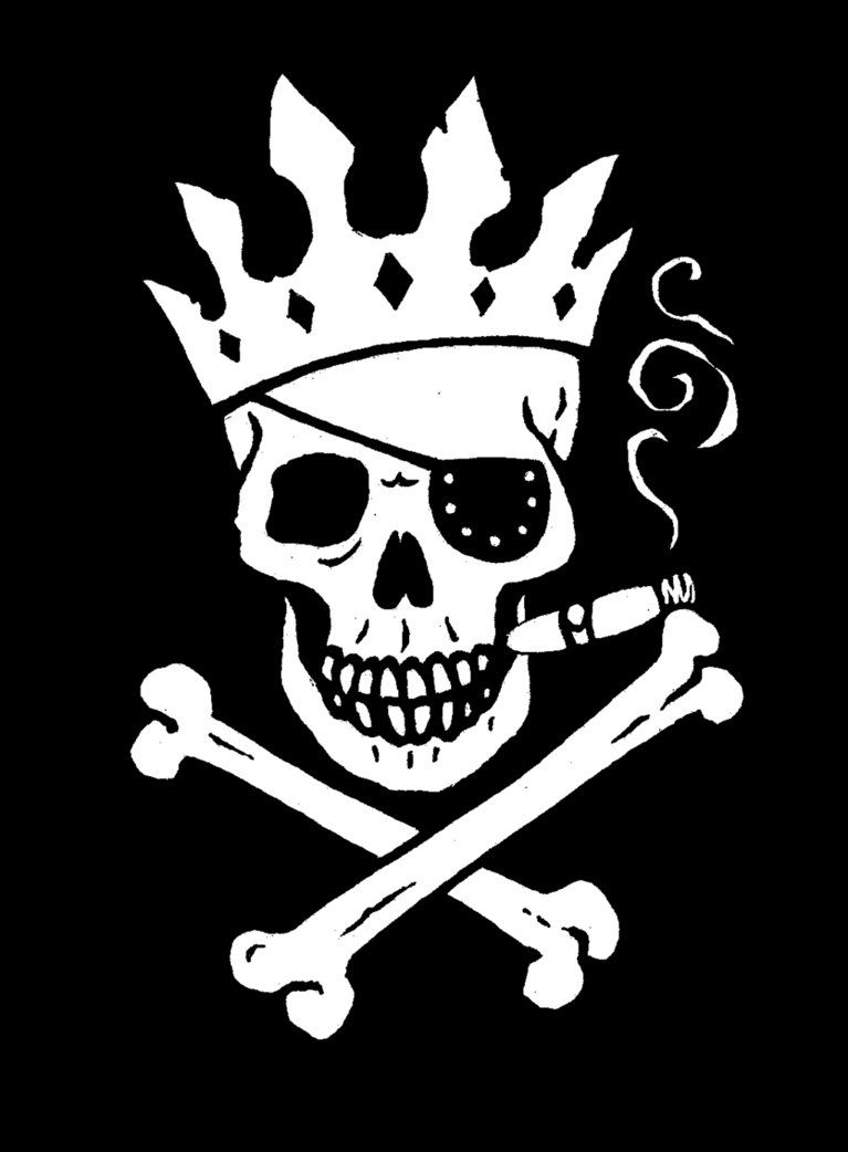 Jolly Roger King Flag By Big Rex D5yun77 Png 767 1042 Pirate Skull Tattoos Skull Decal Pirate Art