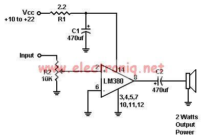Lm380 Power Amplifier Circuit Diagram Tradeoficcom - Wiring