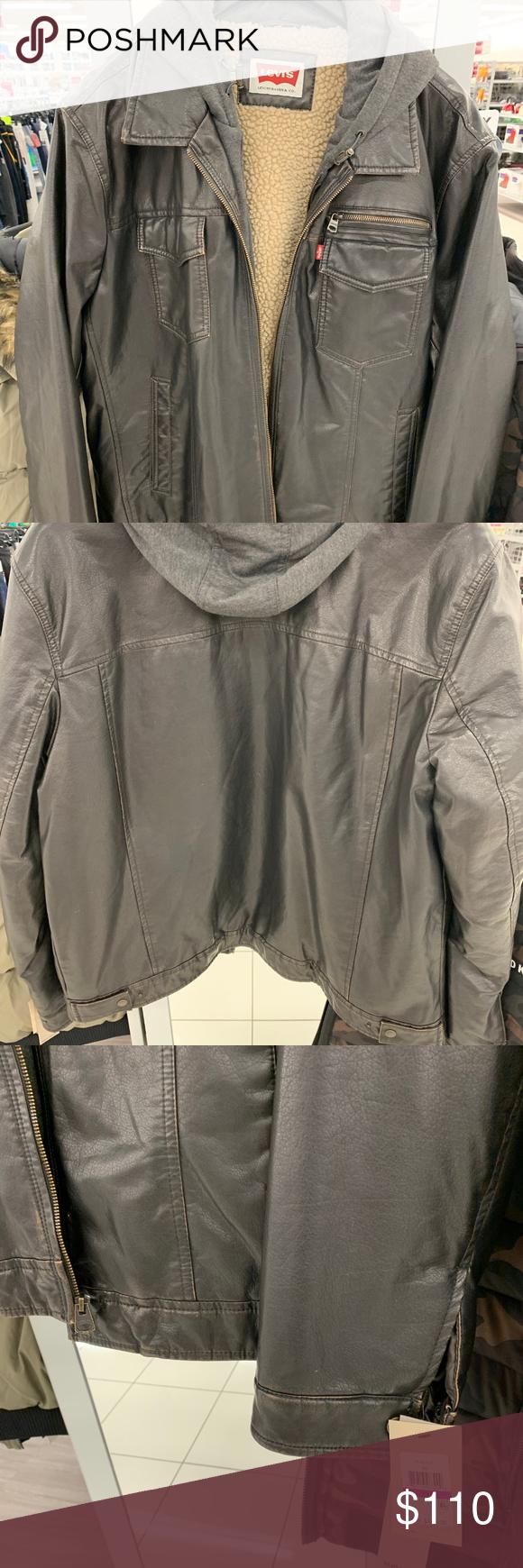 Levi S Hoodie Leather Jacket Leather Jacket Hoodie Jackets Leather Jacket [ 1740 x 580 Pixel ]