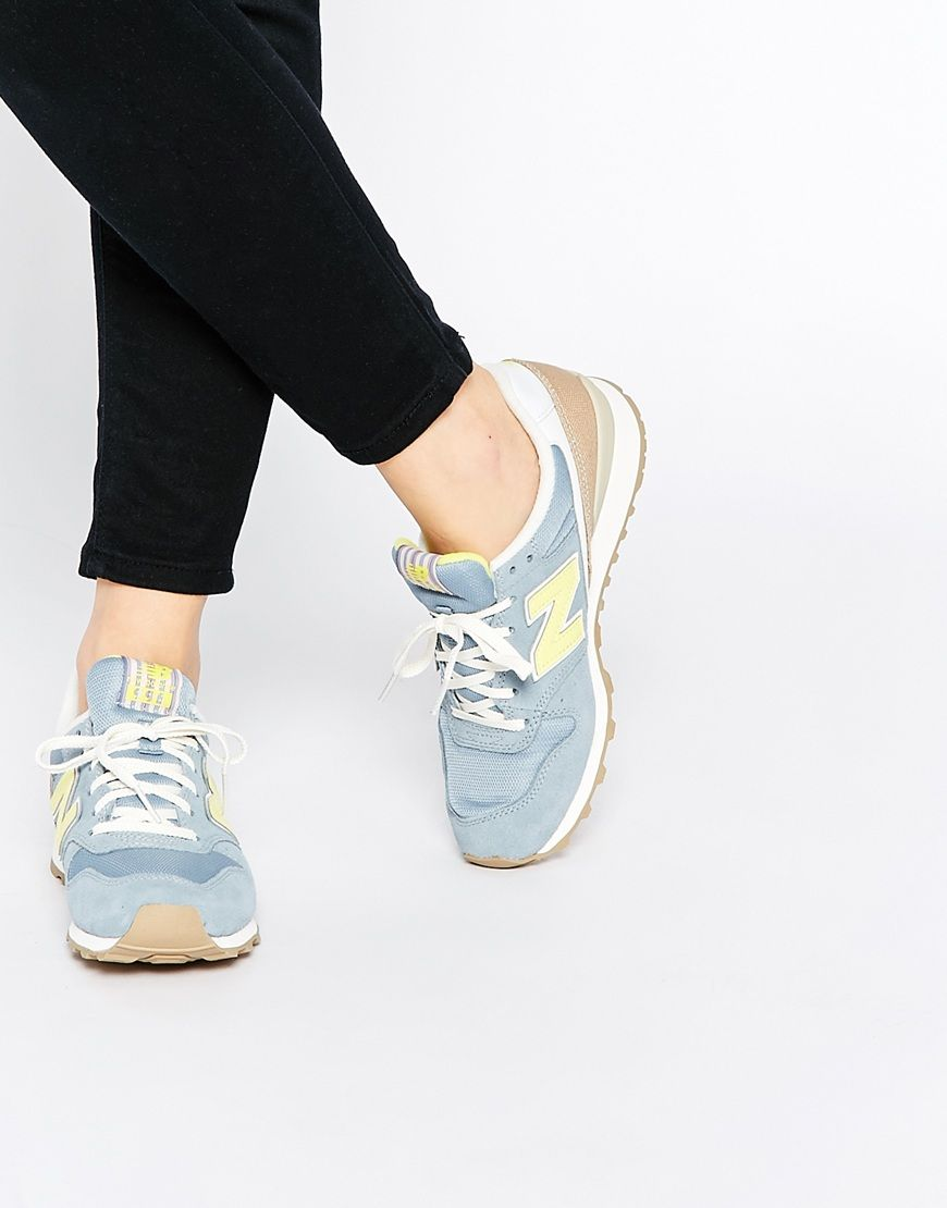 New Balance Suede Off White & Yellow 373 Trainers