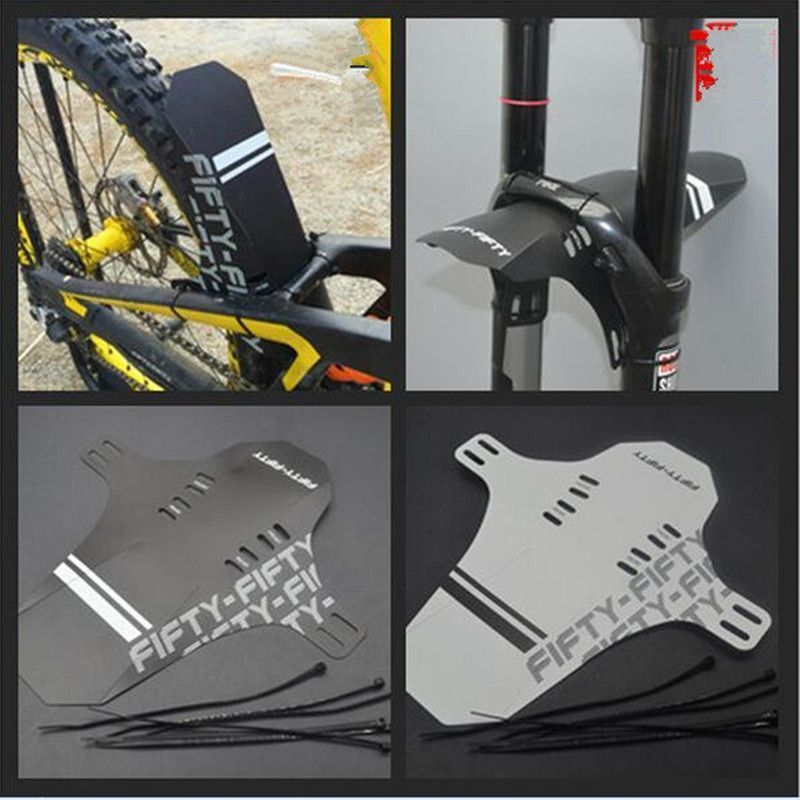 Bicycle Cycling Front Rear Mud Rain Guard Mountain Bike Fenders Black /& Gray