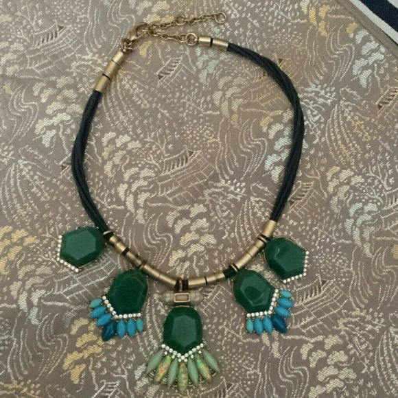 Authentic J Crew statement necklace Beautiful! Excellent condition.  Shades of green and blues.   BUNDLE MY BEAUTIES TO SAVE MORE! J. Crew Jewelry Necklaces