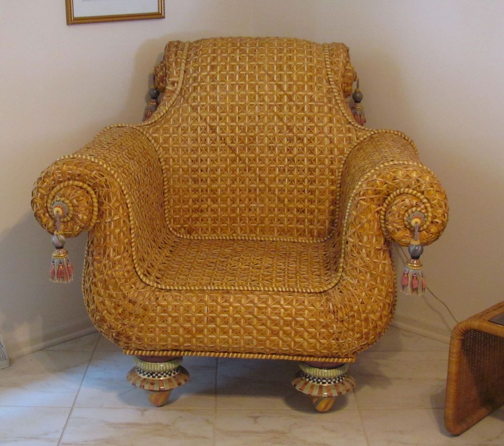 Childs Rattan Chair Handicap Lifts 2 Matching Mackenzie Wicker Club Chairs