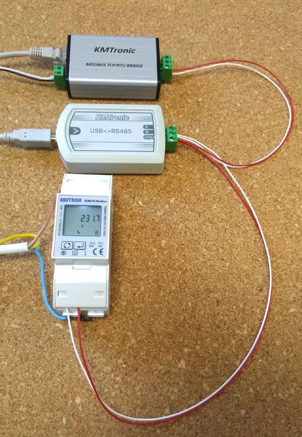 Testing Radzio Modbus Master Simulator with KMtronic Modbus LAN TCP