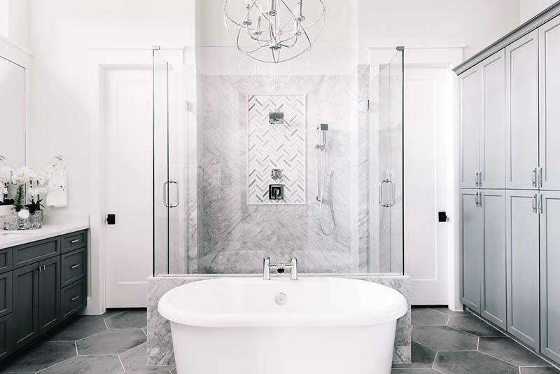 Design Crush Series Featuring Allegiance Builders Pinterest - Freestanding tub bathroom layout