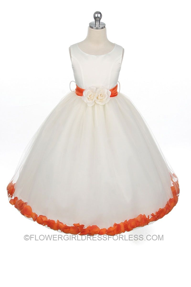 95ccd6cc6bc Flower Girl Dress Style 152-Choice of White or Ivory Dress with ...