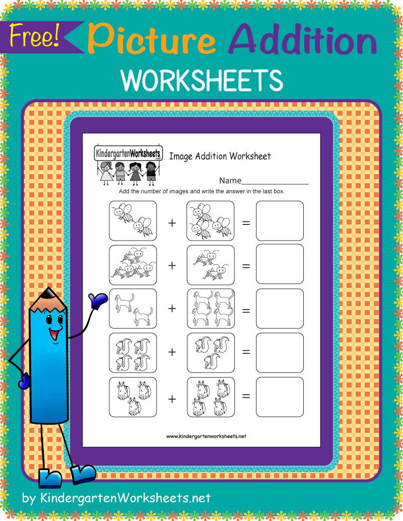 Kindergarten Picture Addition Worksheets Kindergarten Math Worksheets Free Kindergarten Math Free Kids Math Worksheets [ 1035 x 800 Pixel ]