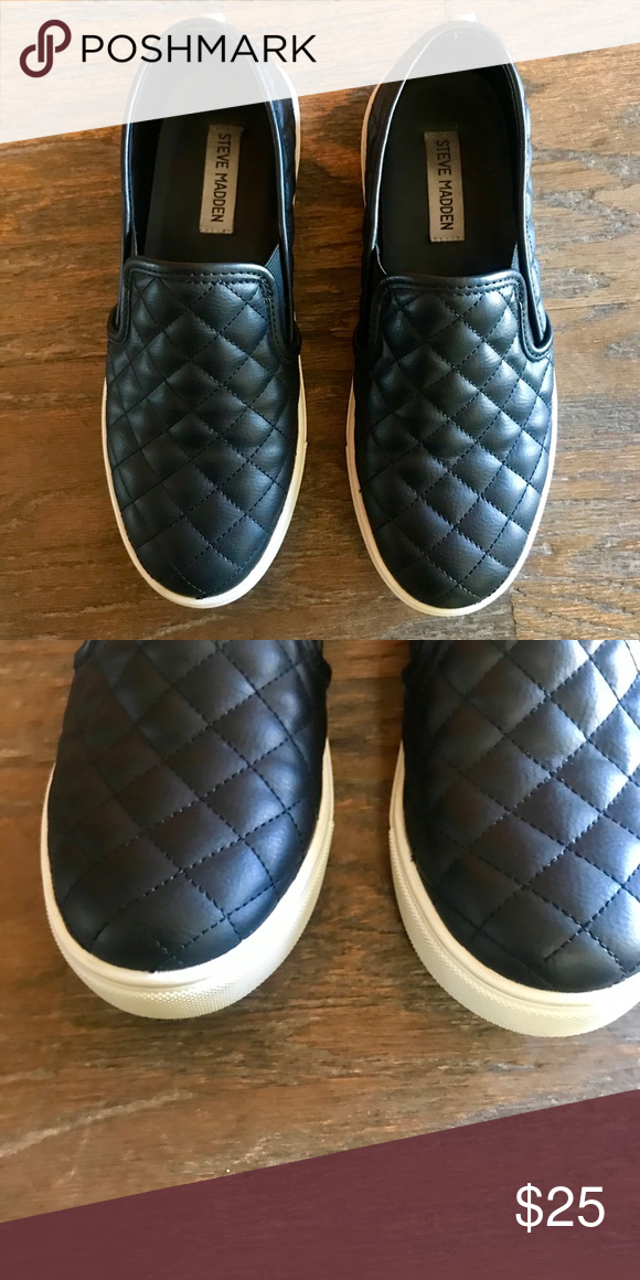 164b988a63a steve madden slip-ons quilted slip-on sneakers Steve Madden Shoes Sneakers
