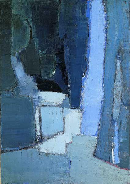 Nicolas de Stael: Between abstract and figurative art -  * Abstract / Figurative Art * Nicolas de Stael – The Parc de Sceaux  - #abstract #AbstractPaintings #Art #between #figurative #FineArt #nicolas #stael #WatercolorPainting