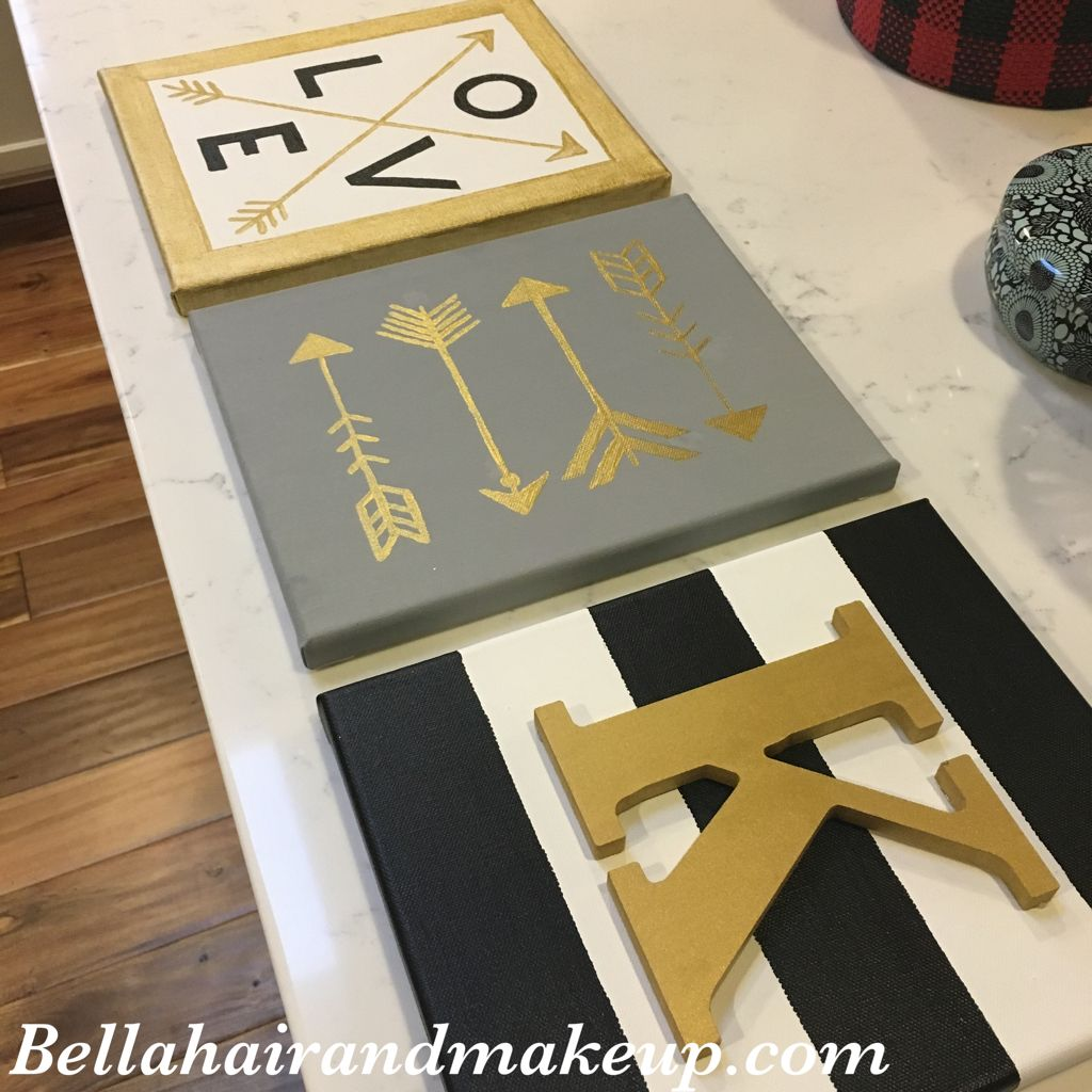Except with math and symbols college bound pinterest diy with painted wood letters hot glued to painted blue striped canvas biocorpaavc Image collections