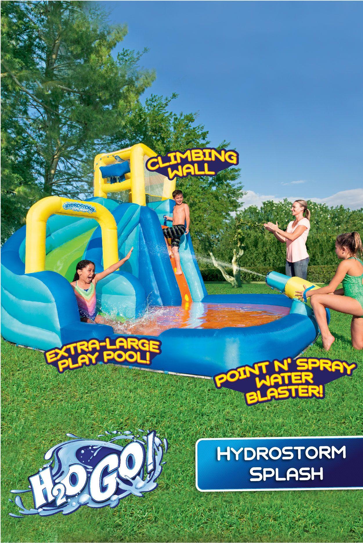 H2ogo 12 X 10 6 X 8 10 Turbo Splash Zone Mega Water Park Walmart Com Inflatable Water Park Water Park Splash Zone