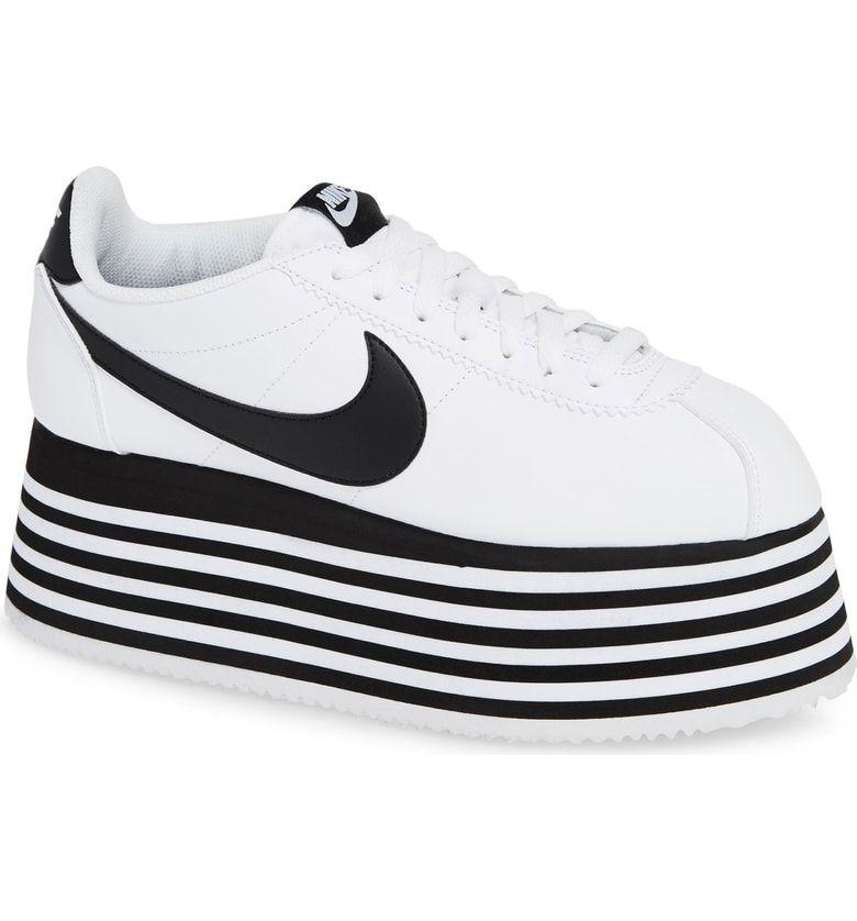 Platform sneakers, Nike cortez
