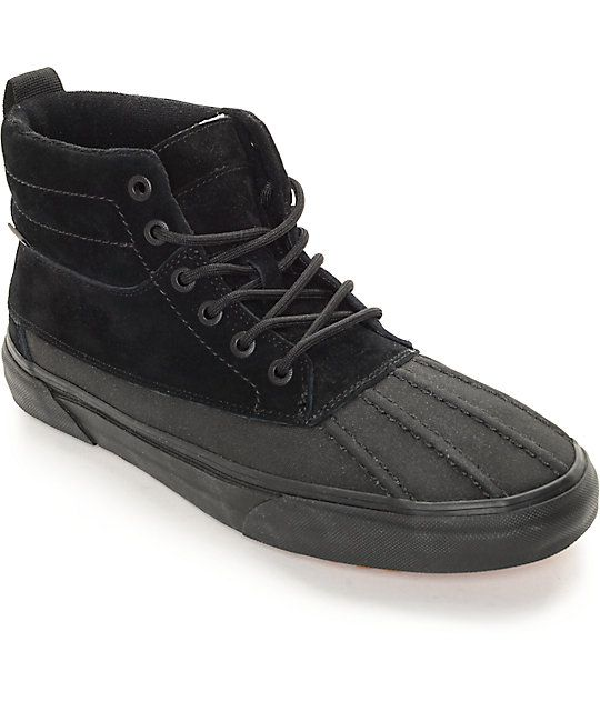 5abd547545 Vans Sk8-Hi Del Pato MTE Black Monochromatic Shoes